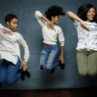"Step team members Tayla Solomon, Cori Granger, and Blessin Giraldo, from the documentary film, ""STEP,"" are photographed at the 2017 Sundance Film Festival for Los Angeles Times on January 20, 2017 in Park City, Utah. Photo credit: Jay L. Clendenin/Los Angeles Times/Contour by Getty Images. (Photo by Jay L. Clendenin/Los Angeles Times/Contour by Getty Images)"