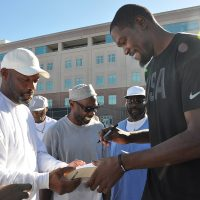 Kevin Durant Signs Autographs for Inmates. Photo Courtesy: San Quentin State Prison