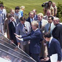 President Carter Unveils Solar Panels on White House Roof - Photo Courtesy of CARTERLAND