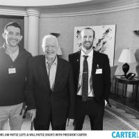 The Pattiz Brothers with Jimmy Carter - Photo Courtesy of CARTERLAND